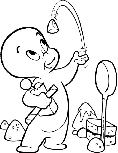 casper coloring pages coloring home