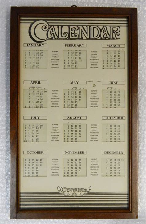 Sideboards Antique Unusual Perpetual Calendar C 1900 Loveantiques Com