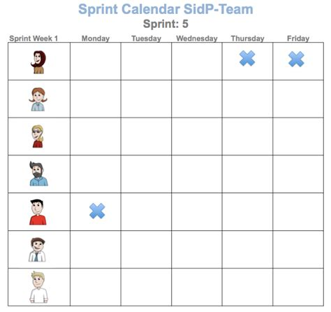 Team Calendar Template Aztec Online Sprint Schedule Template