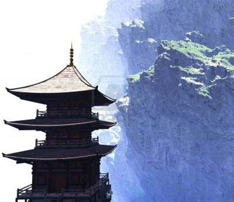 zen buddhist temple in the mountains ink pinterest
