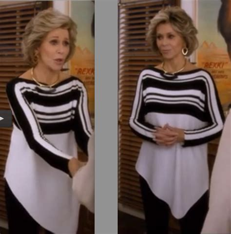 jane fondas black pearl eartings in monster in law love jane fonda clothes in grace and frankie ropa