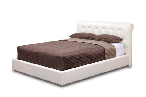 Platform Bed Modern Leather Platform And Headboard Bed San Antonio