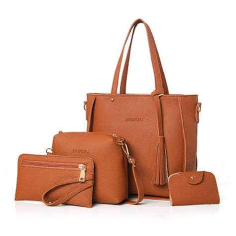 Luxury Bag Prices To Rocket Even Higher by Sale Designer 4 Pcs Pu Leather High End Handbags For