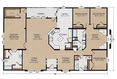 mobile home blueprints chion mobile home floor plans luxury 4 bedroom double