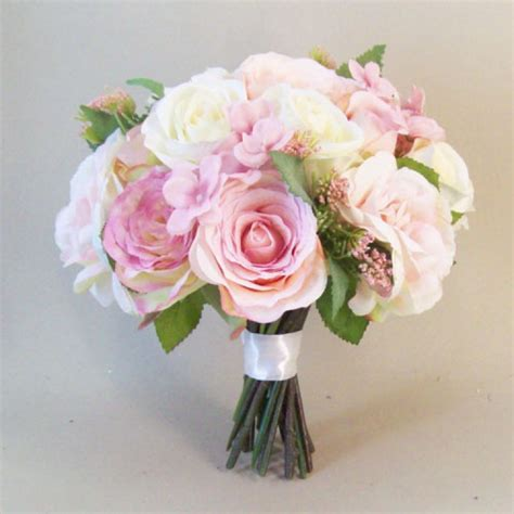 Silk Flowers Wedding by Annabel Artificial Roses Wedding Bouquet Artificial