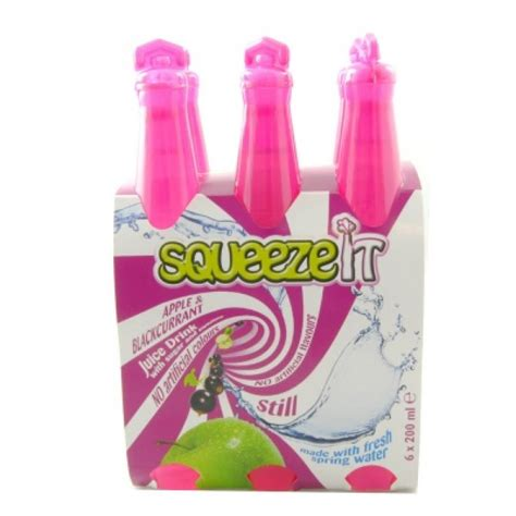 Squeeze It squeeze it apple and blackcurrant juice drink 200ml x 6