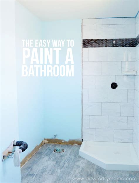 the easy way to paint a bathroom artsy fartsy
