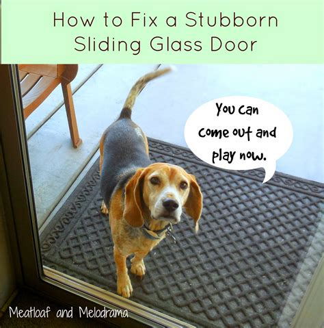 How To Fix A Glass Door How To Fix Your Stubborn Sliding Glass Door Meatloaf And Melodrama