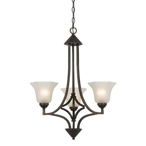 Cal Lighting 3 Light Hand Forged Dark Bronze Iron Forged Chandeliers