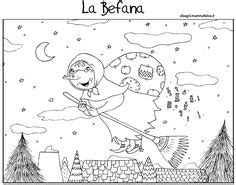 la befana italys christmas witch coloring pages