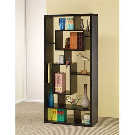 asymmetrical cube bookcase with shelves black asymmetrical cube book case with shelves coaster