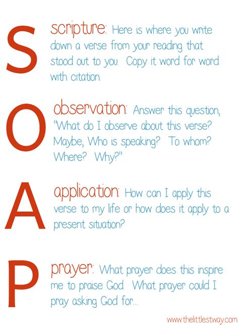 Soaps Acronym I Want To Journal Bible Quotes The Littlest Way
