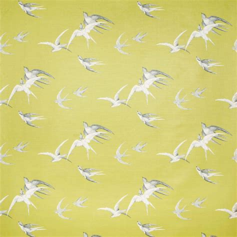 Swallows Wallpaper   Lime (DVIWSW101)   Sanderson Vintage Wallpapers Collection