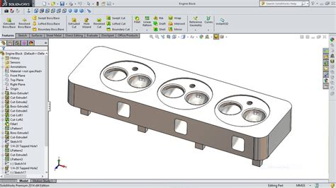 tutorial solidworks motor solidworks tutorial engine cylinder head youtube