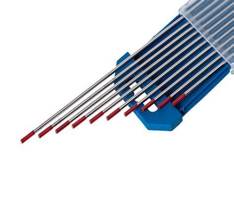 lade al tungsteno electrodo tungsteno rojo 2 torio diam 2 4 mm
