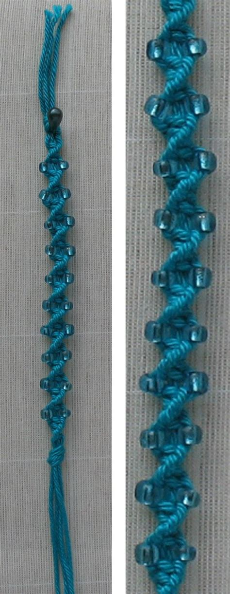 Hemp Macrame Patterns - macrame bracelet tutorial