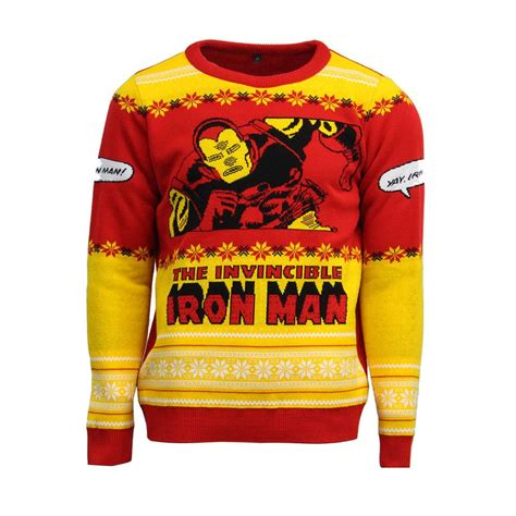 official invincible iron jumper sweater free uk delivery yellow bulldog