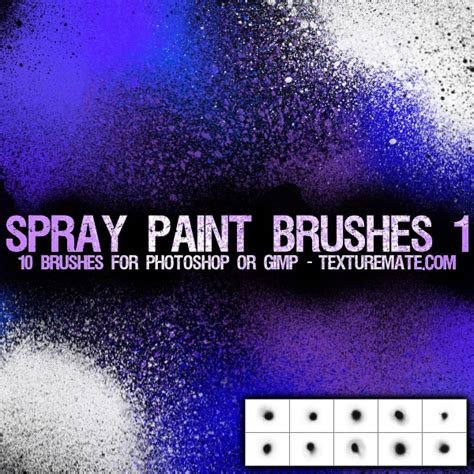 spray paint effect photoshop spray paint 1 brush pack for photoshop or gimp
