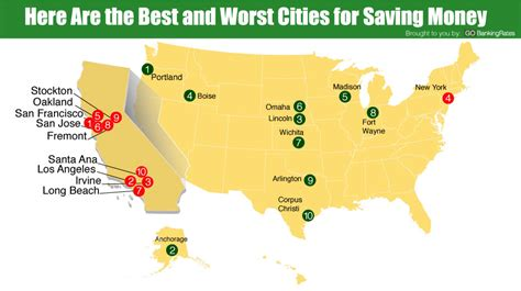 10 Worst Places To Live In America by Ranked 10 Best And Worst Cities To Save Money