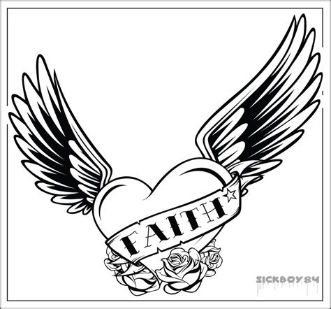 hearts with wings coloring pages cliparts co