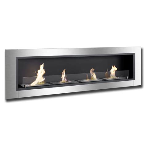 In Wall Ethanol Fireplace by 67 Quot Ignis Accalia Wall Mounted Recessed Ventless Ethanol