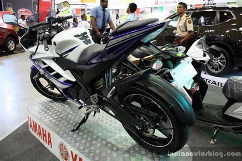 Alarm Motor Yamaha R15 yamaha yzf r15 rear three quarter at the 2014 colombo