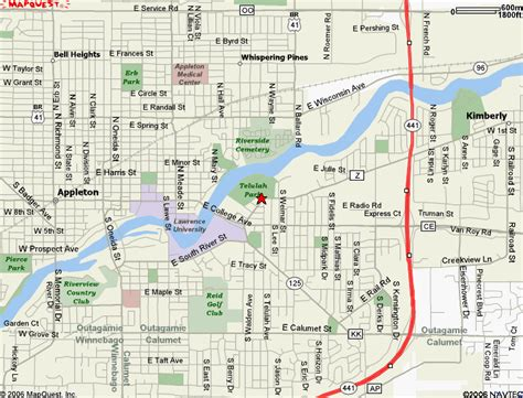 map of appleton wi fva maps and directions