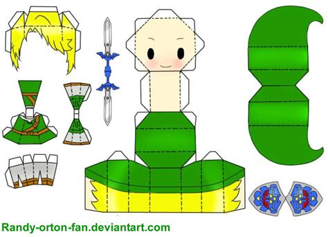 Papercraft Link - papercraft link by randy orton fan on deviantart