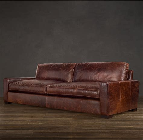 restoration hardware leather ottoman restoration hardware leather sofa sofa collections rh