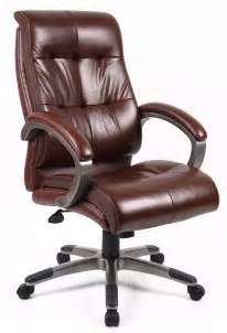 Cheap Brown Desk Chair Catania Brown Leather Office Chair