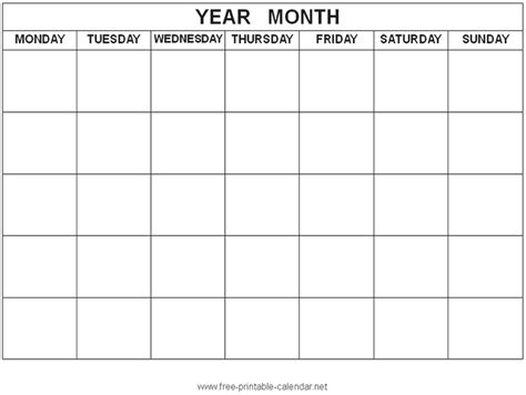 blank calendar template starting with monday best photos of printable 2016 weekly calendar template