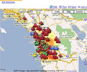 map of california wildfires ca fires map my