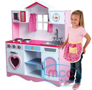 childrens wooden kitchen pretend play kitchens ebay