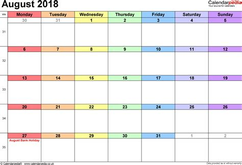 blank calendar template 2018 uk august 2018 calendar with holidays uk blank calendar