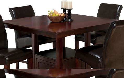 Tessa Dining Table Jofran Tessa Chianti Square Counter Height Table With Storage Base Traditional Dining Tables