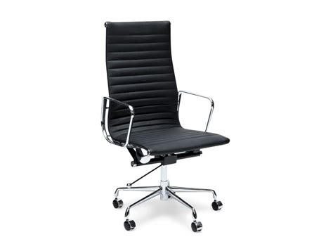 eames office chair ribbed high back white eames style executive high back ribbed chair