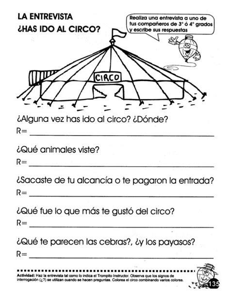 preguntas en una entrevista para niños la entrevista 242 has ido al circo realiza una entrevista a