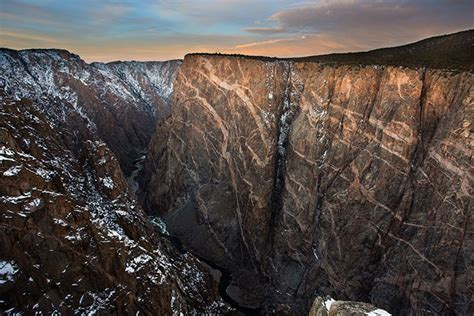 painted wall black canyon black canyon of the gunnison national park colorado