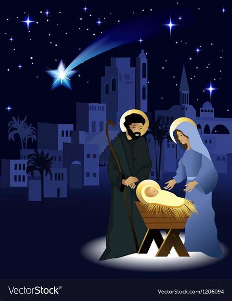 christmas nativity scene royalty  vector image