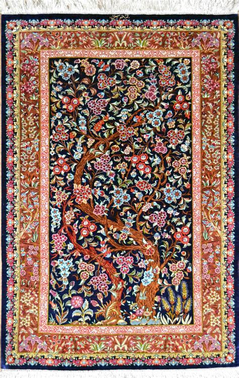 10 To Live By Rug by Qum Tree Of Silk Rug Item 1418