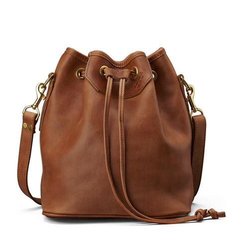leather bags lyndale drawstring bag saddle leather j w