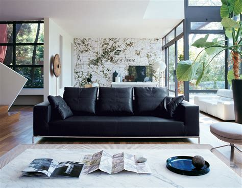 room with couch decorating a room with black leather sofa traba homes
