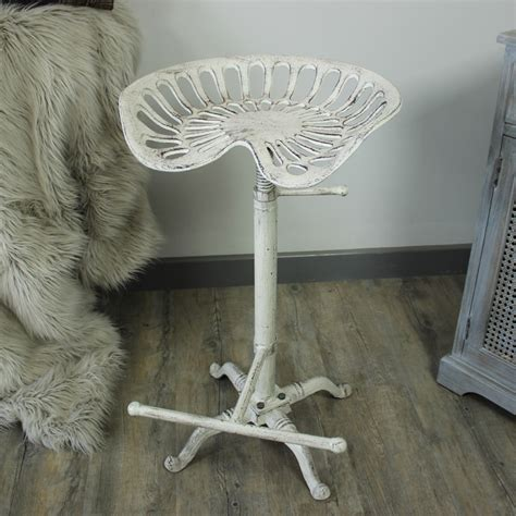 White Tractor Seat Stool by Tractor Seat Bar Stool Melody Maison 174