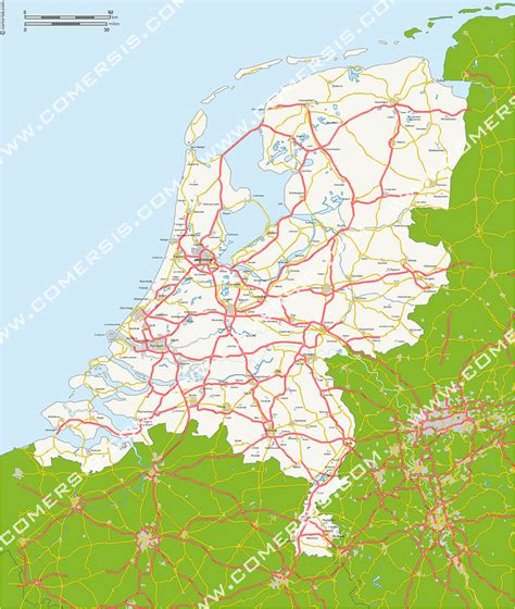 netherlands motorway map customer area map