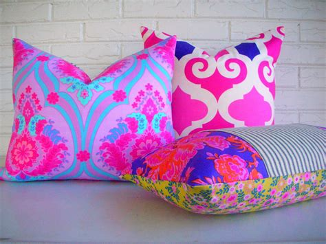 colorful pillow cases decorative pillow cover purple fuchsia floral throw
