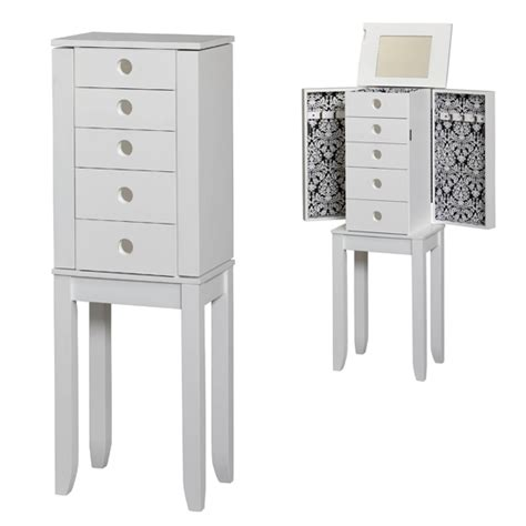 Jewelry Vanity Armoire by Linon Jewelry Armoires And Vanity Sets