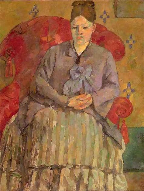 Madame Cezanne In A Armchair by Madame Cezanne In A Armchair By Paul Cezanne