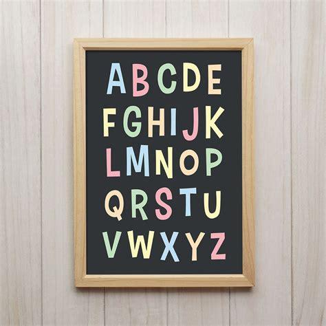 kinderzimmer bild alphabet details zu bild abc kunstdruck a4 alphabet lernen familie