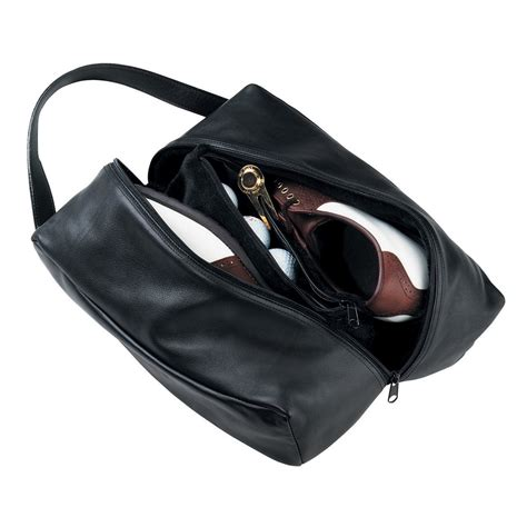 golf shoe bag leather golf shoe bag scarboroughtweedgifts