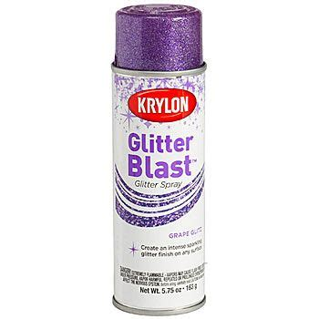 Sprei Purple this purple glitter blast spray paint lets you spray on the sparkle with ease each can contains